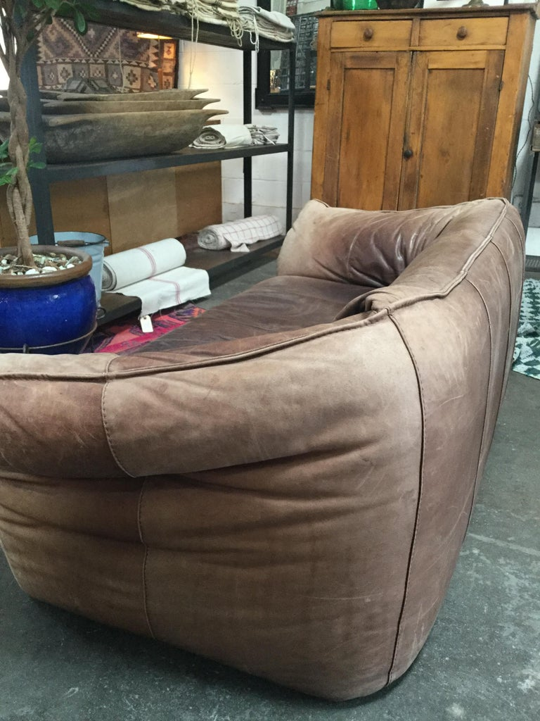 Leather Vintage Michel Ducaroy Sofa For Sale