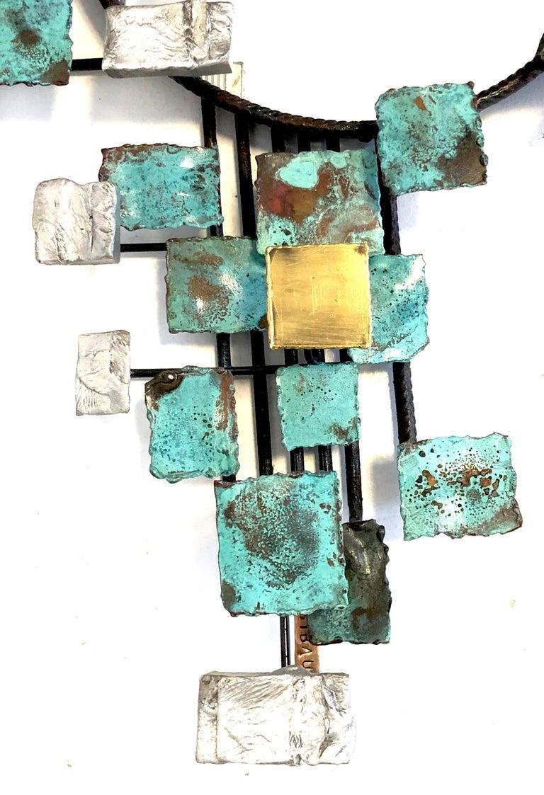 Vintage Michel Gibault Iron Enamel Mirror France For Sale 1