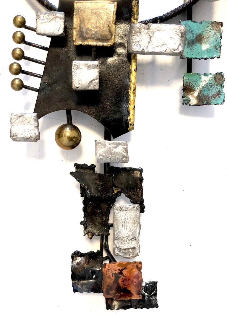 Vintage Michel Gibault Iron Enamel Mirror France For Sale 2