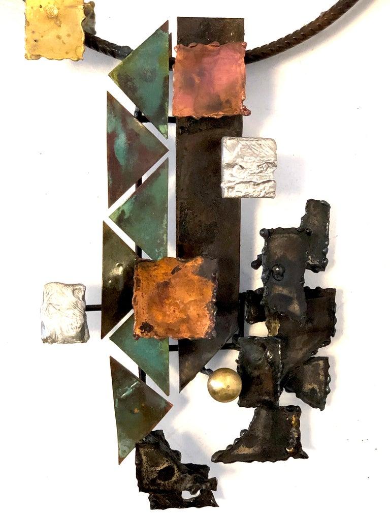 Vintage Michel Gibault Iron Enamel Mirror France For Sale 3