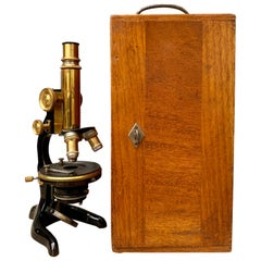 Vintage Microscope by Ernst Leitz with Original Box, Germany, circa 1915