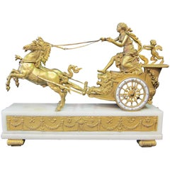 Vintage Mid-19th Century French Empire Figural Clock