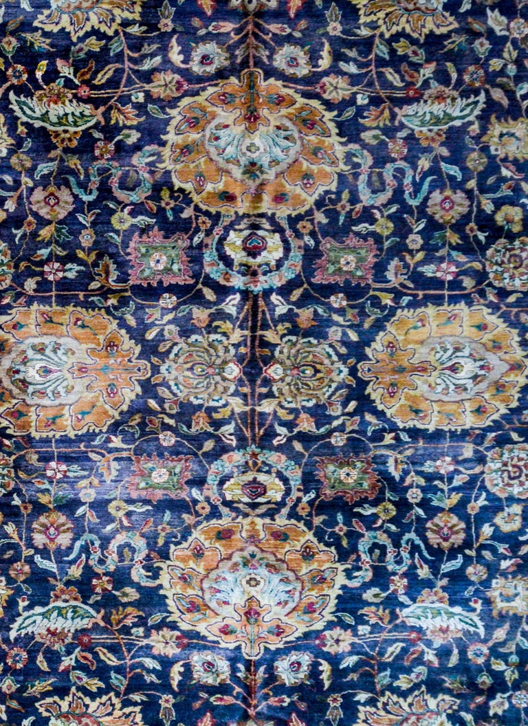 Indian Vintage Mid-20th Century Sultanabad Rug For Sale