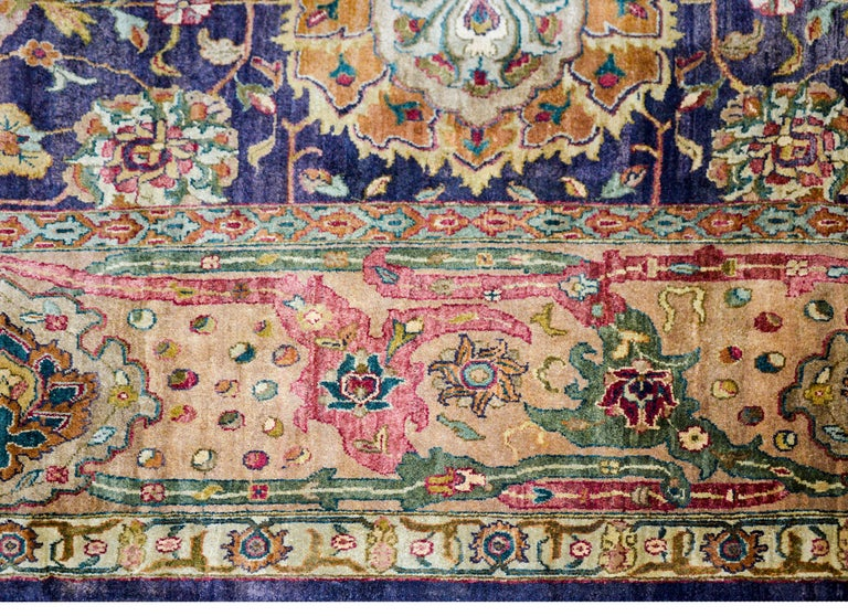 Wool Vintage Mid-20th Century Sultanabad Rug For Sale