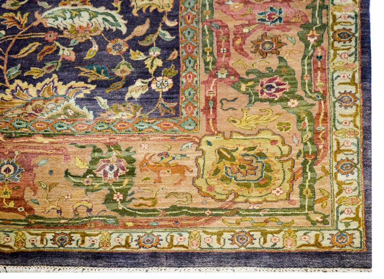 Vintage Mid-20th Century Sultanabad Rug For Sale 1