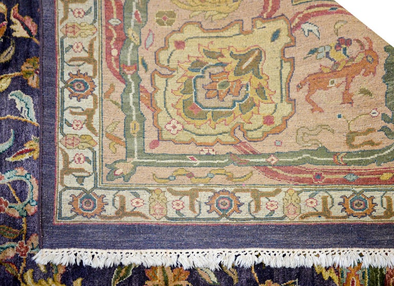 Vintage Mid-20th Century Sultanabad Rug For Sale 2