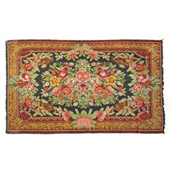 Vintage Mid-20th Century Turkish Yun Kilim Rug
