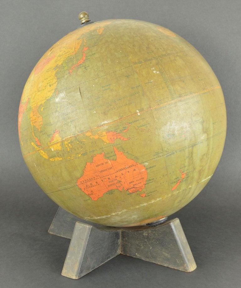 Mid-Century Modern Vintage Midcentury Globe by Johnston & Bacon, circa 1950 For Sale