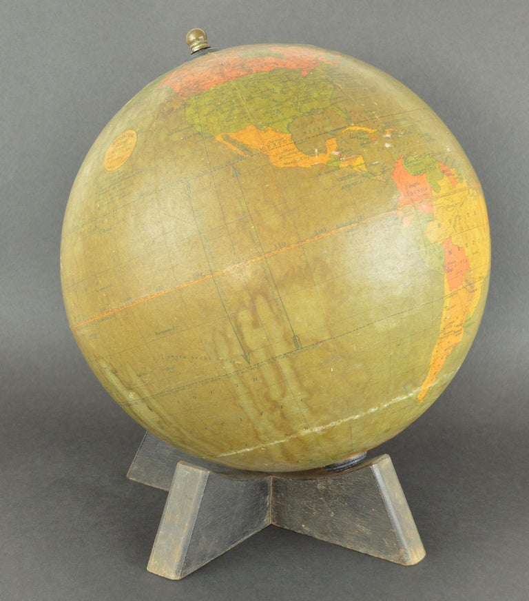English Vintage Midcentury Globe by Johnston & Bacon, circa 1950 For Sale