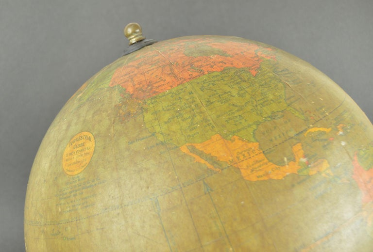 Vintage Midcentury Globe by Johnston & Bacon, circa 1950 In Good Condition For Sale In St Annes, Lancashire