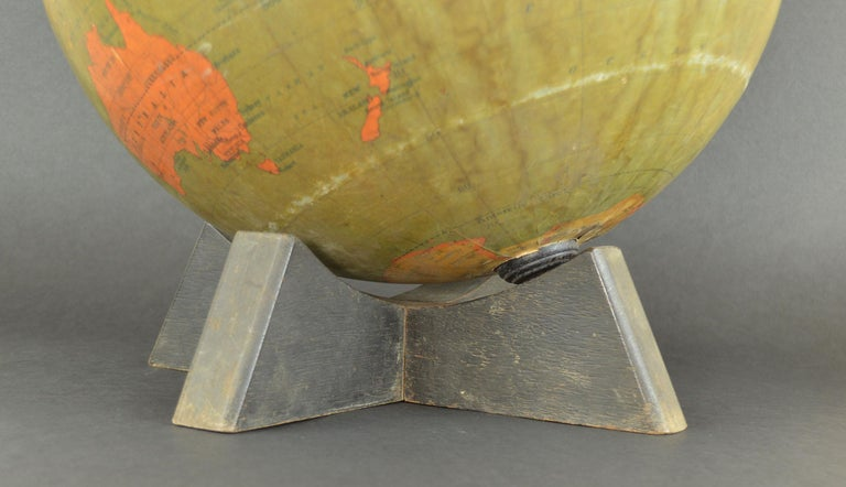 Paper Vintage Midcentury Globe by Johnston & Bacon, circa 1950 For Sale