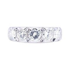 Vintage, Mid Century, 18ct White Gold, Diamond Half-Eternity Ring