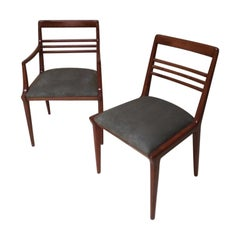 Vintage Midcentury Contemporary Dining Chairs Set of Six