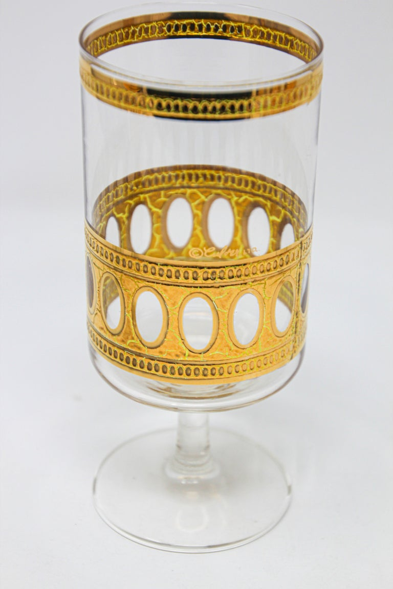 Vintage Midcentury Culver Antigua Barware Cocktail Set For Sale 5