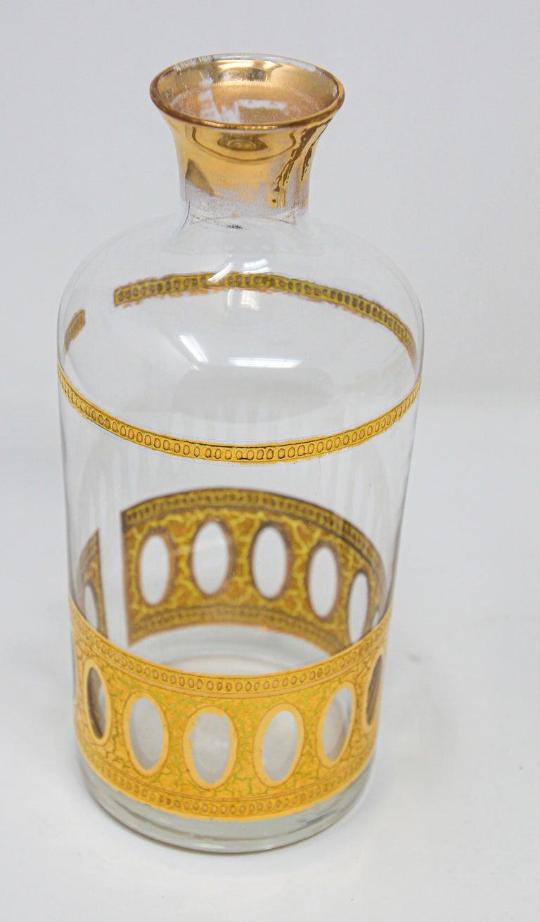20th Century Vintage Midcentury Culver Antigua Barware Cocktail Set For Sale