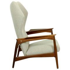 Vintage Midcentury Danish Ib Kofod-Larsen Reclining Lounge Chair