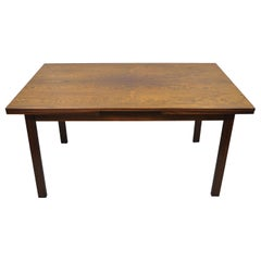 Vintage Midcentury Danish Modern Rosewood Draw Leaf Extension Dining Table