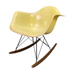 Vintage Midcentury Fiberglass Rocking Chair by Charles Eames