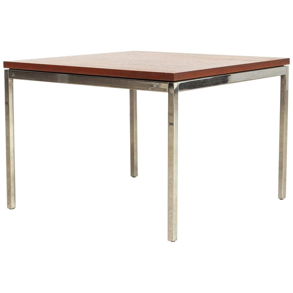 Merveilleux Vintage Midcentury Florence Knoll For Knoll Square Wood And Steel Coffee  Table