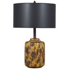 Vintage Mid-Century Glazed Ceramic Table Lamp