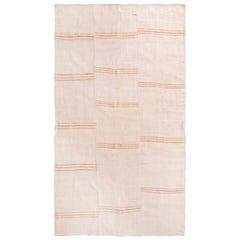 Vintage Mid-Century Kilim Transitional Beige-Pink Wool Kilim