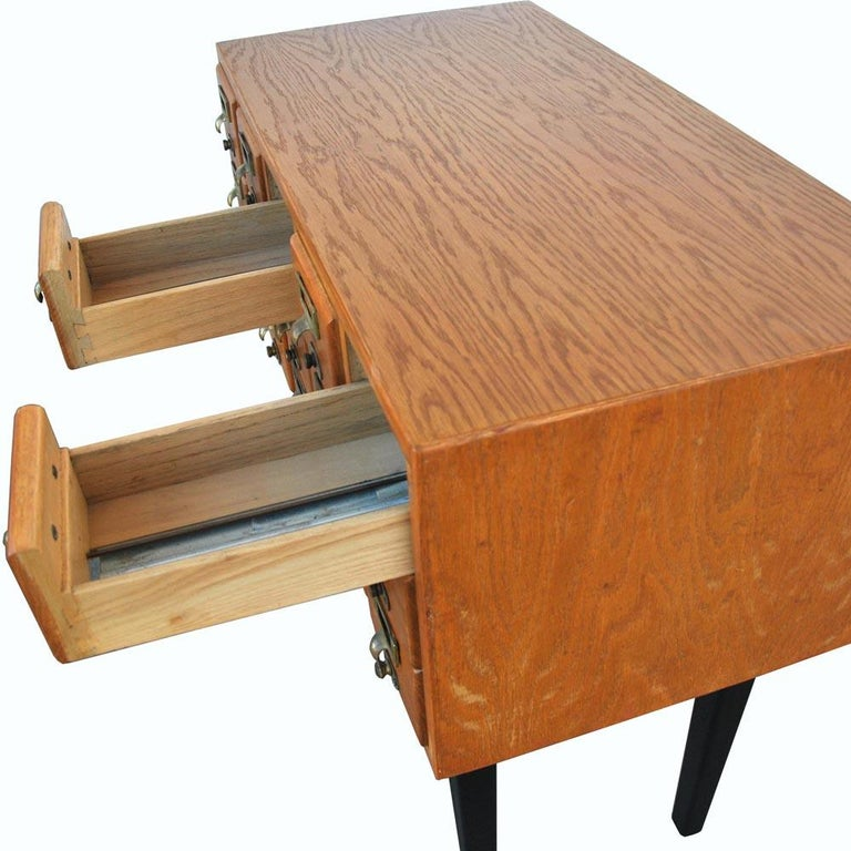 Vintage Midcentury Library Card Catalogue Console For Sale 7