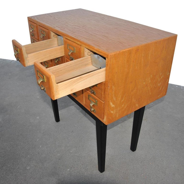 Vintage Midcentury Library Card Catalogue Console For Sale 6