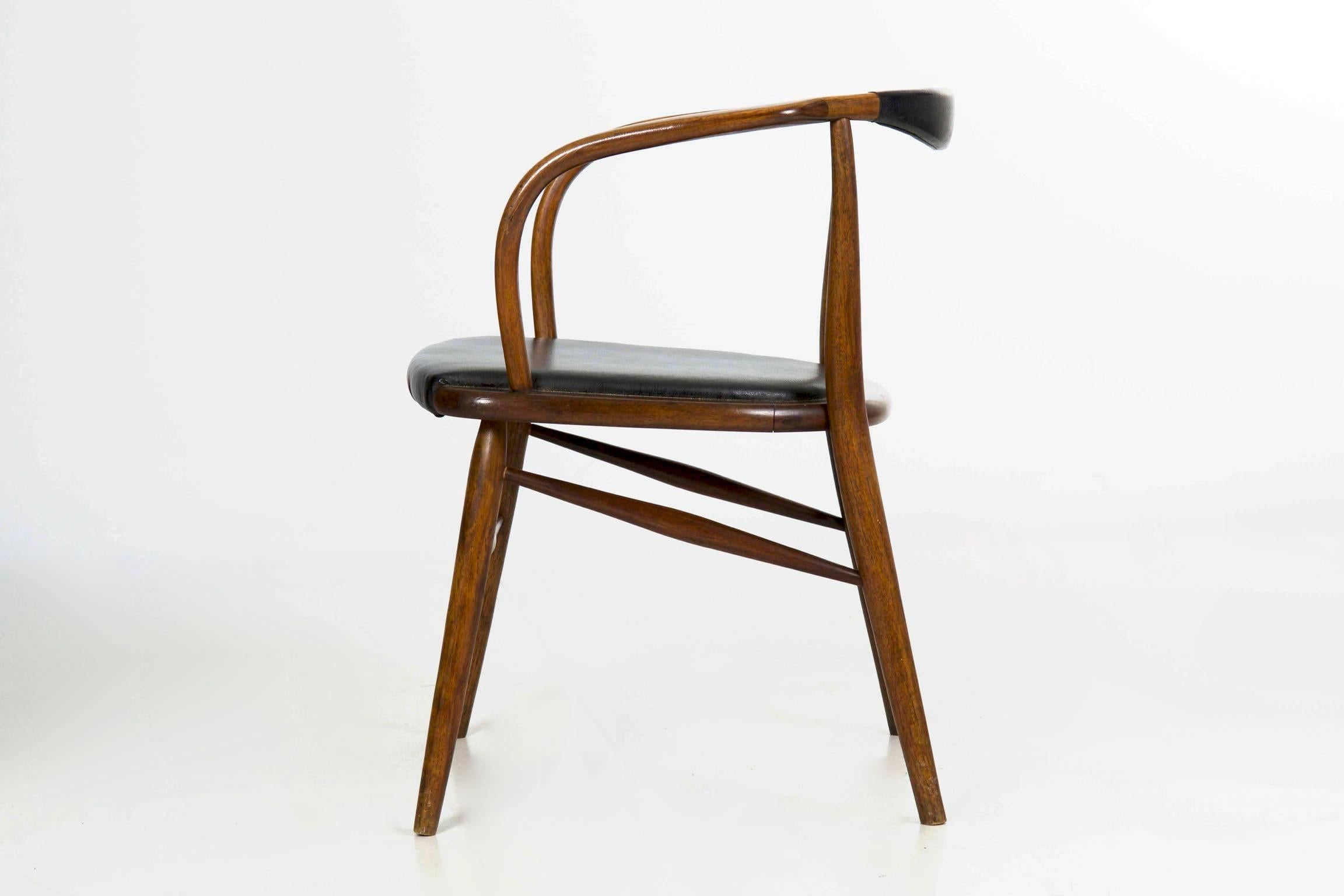 Mid 20th Century Vintage Mid Century Modern Boling Chair Co. Bentwood  Armchair,