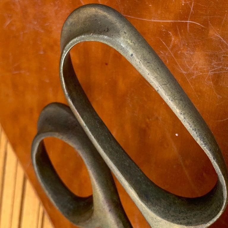 Vintage Mid-Century Modern Brass Ice Cube Tongs Scissor For Sale 5