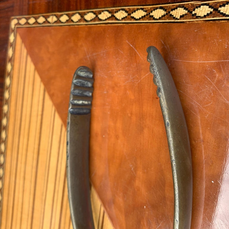 Vintage Mid-Century Modern Brass Ice Cube Tongs Scissor For Sale 8