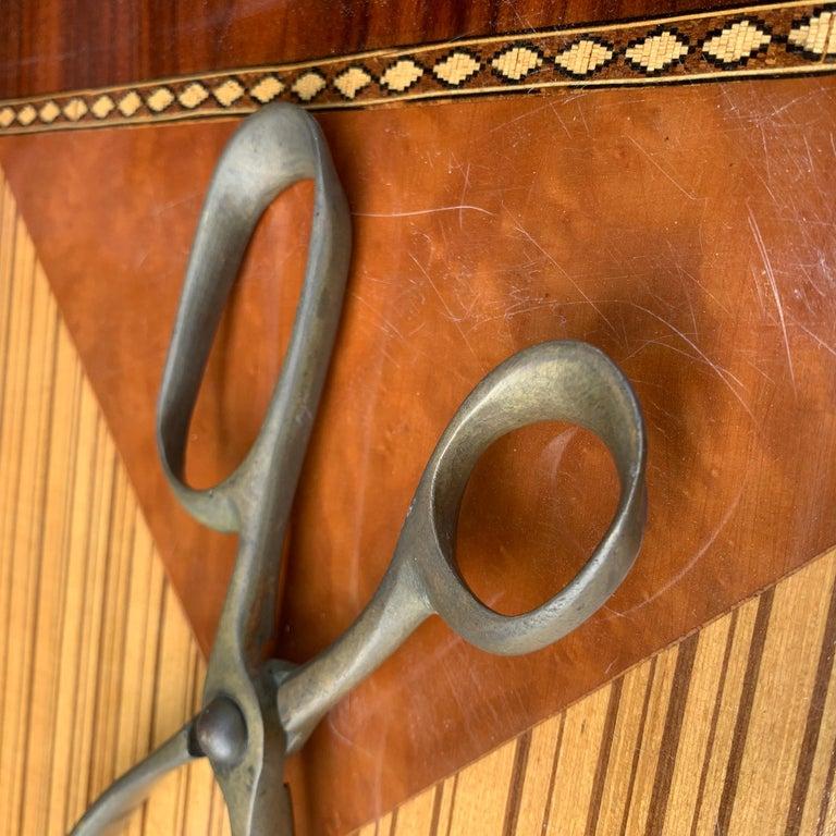 Vintage Mid-Century Modern Brass Ice Cube Tongs Scissor For Sale 1