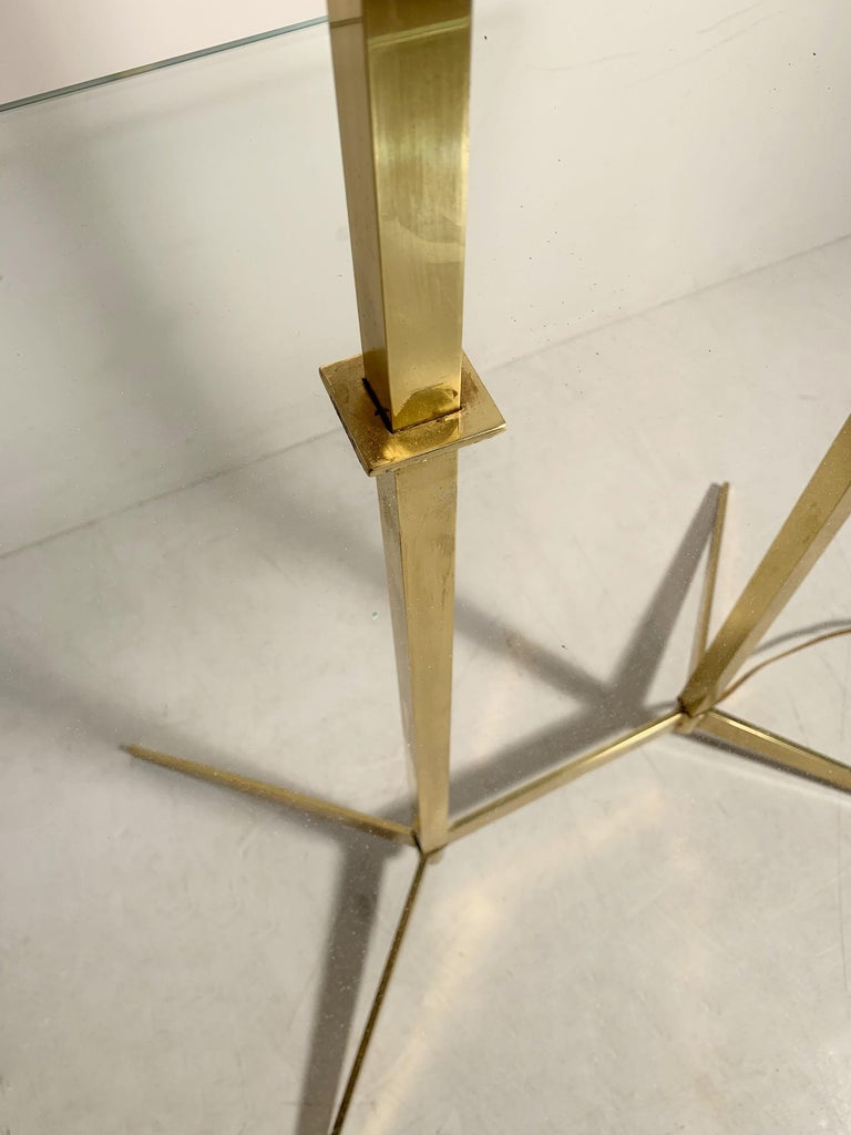 Vintage Mid-Century Modern Brass Table Floor Lamp attributed to Stiffel For Sale 1