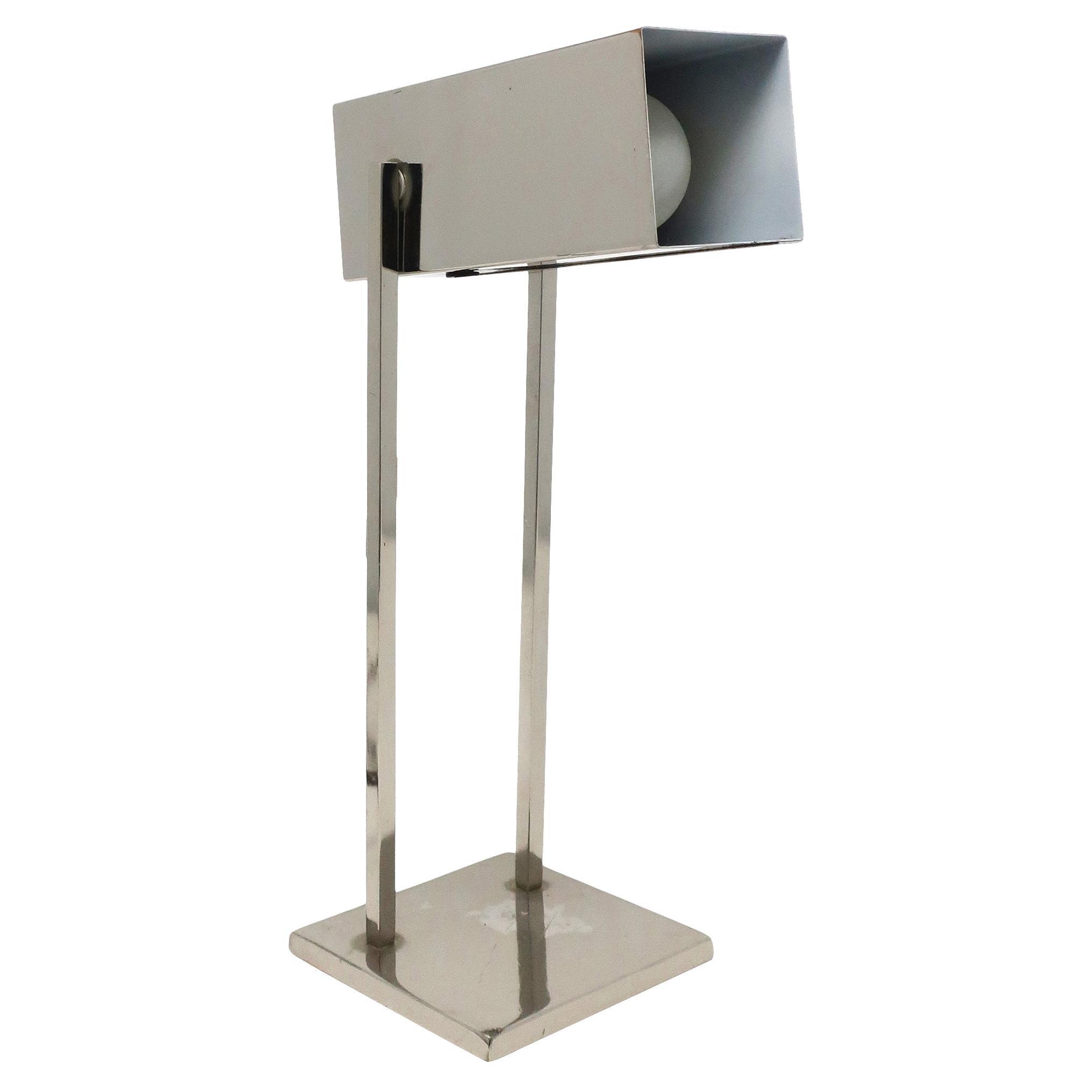 Vintage Mid-Century Modern Chrome Desk Lamp
