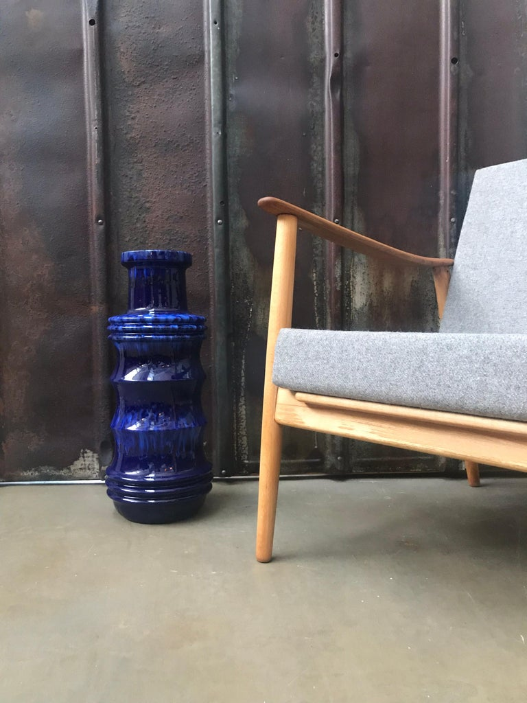 Vintage Mid-Century Modern Danish Easy Lounge Chair in Beechwood For Sale 11