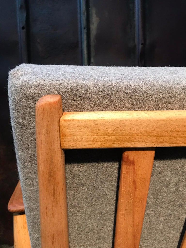 Vintage Mid-Century Modern Danish Easy Lounge Chair in Beechwood For Sale 2
