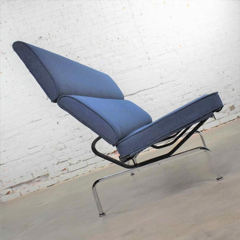 American Vintage Mid-Century Modern Eames Sofa Compact in Blue by Herman Miller