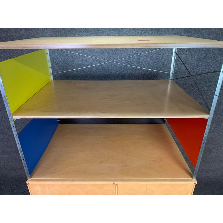 American Vintage Mid-Century Modern Eames Style Esu Storage Unit by Modernica For Sale