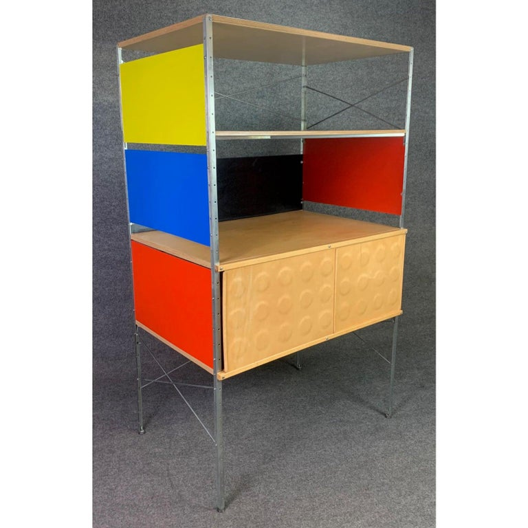 Woodwork Vintage Mid-Century Modern Eames Style Esu Storage Unit by Modernica For Sale