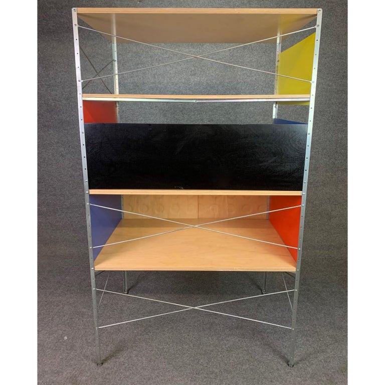 Birch Vintage Mid-Century Modern Eames Style Esu Storage Unit by Modernica For Sale