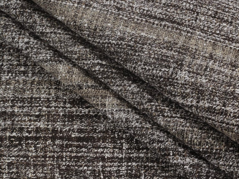 Vintage Mid-Century Modern Flat-Weave Rug In Good Condition For Sale In New York, NY