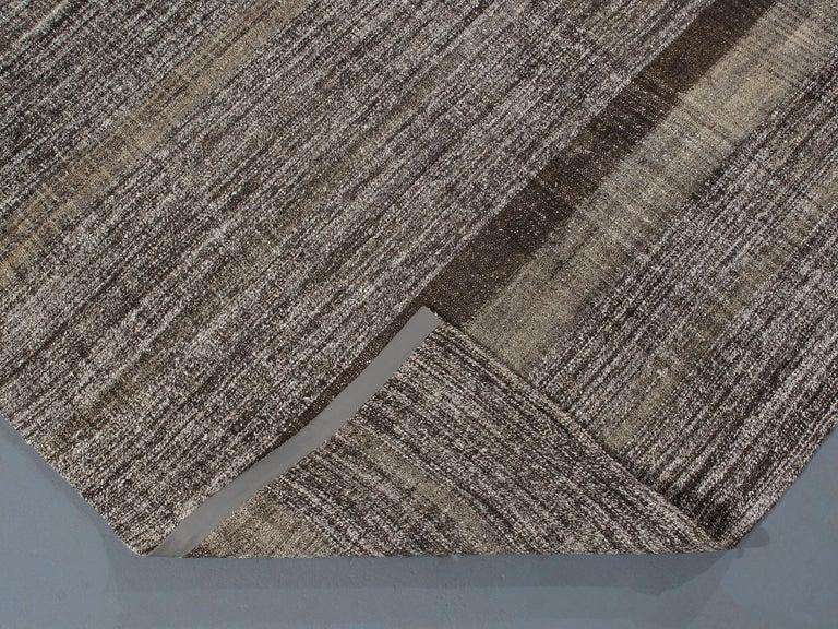 Wool Vintage Mid-Century Modern Flat-Weave Rug For Sale
