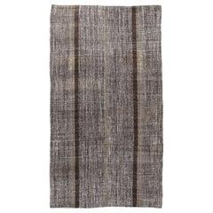 Vintage Mid-Century Modern Flat-Weave Rug