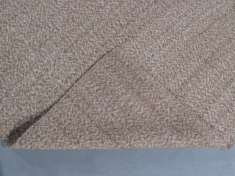 Hand-Woven Vintage Mid-Century Modern Flat-Weave Rug For Sale