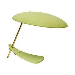 Vintage, Mid-Century Modern Green Stilnovo Metal Table Lamp, 1950s, Italy