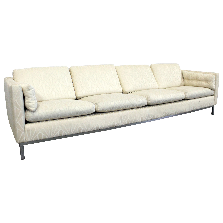 Vintage Mid-Century Modern Knoll Chrome Frame Sofa