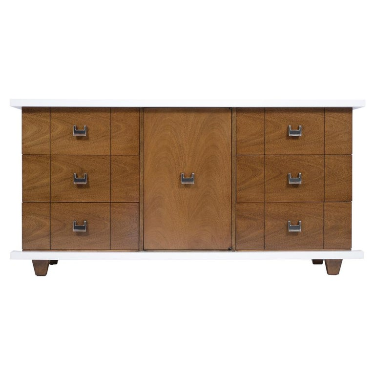 American Mid-Century Modern Lacquered Chest of Drawers For Sale