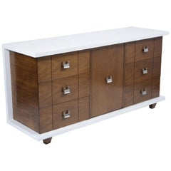 Vintage Mid-Century Modern Lacquered Credenza