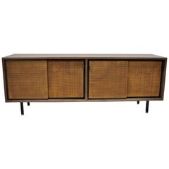 Vintage Mid-Century Modern Laminate Formica Case Credenza Cabinet Buffet