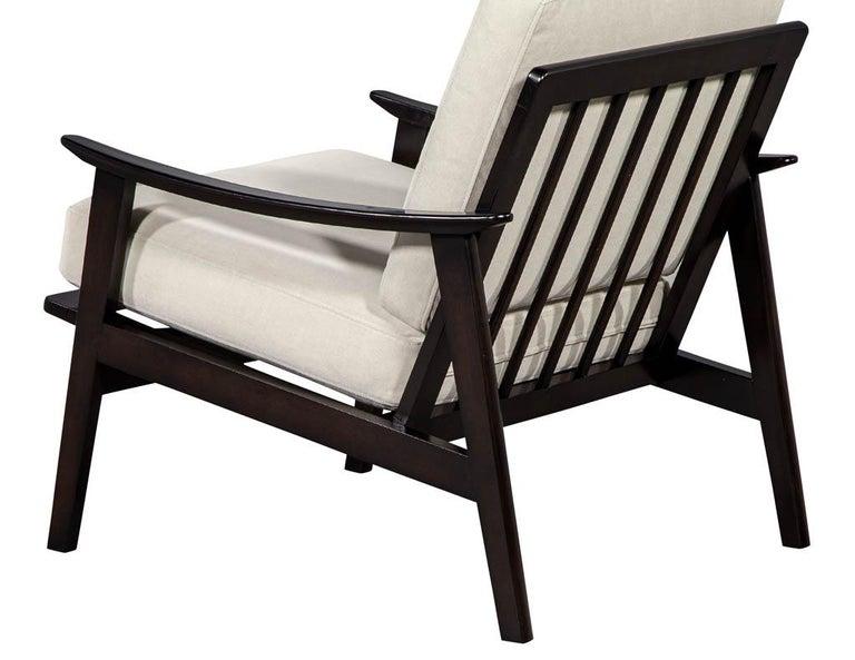 Velvet Vintage Mid-Century Modern Lounge Chair For Sale
