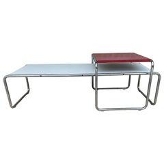 Vintage Mid-Century Modern Marcel Breuer 'Laccio' Coffee & Side Table for Knoll